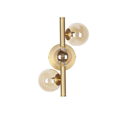 Dainolite Lighting  GLA-131W-VB 3 Light Halogen Wall Sconce Vintage Bronze Finish with Champagne Glass