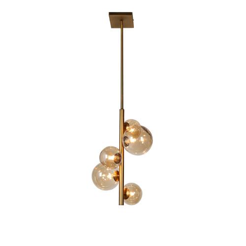 Dainolite Lighting  GLA-175P-VB 5 Light Pendant, Vintage Bronze Finish, Champagne Glass