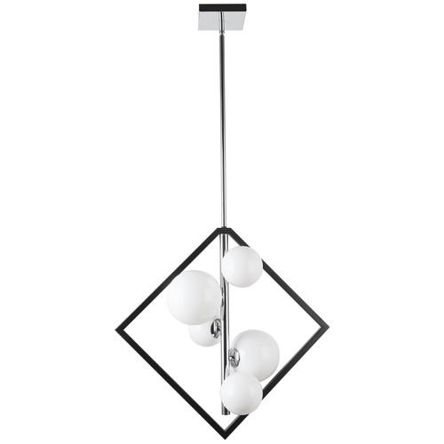 Dainolite Lighting  GLA-215P-MB-PC 5Lt Pendant, Matte Black & Polished Chrome