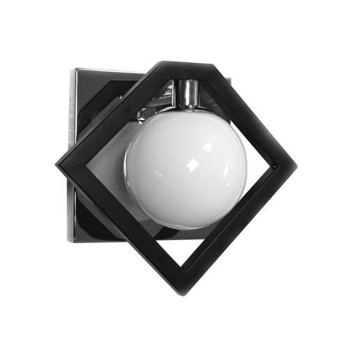 Dainolite Lighting  GLA-91W-MB-PC 1 Light Wall Sconce, Matte Black & Polished Chrome