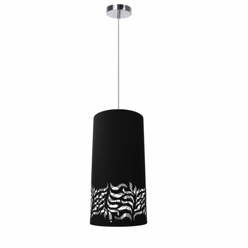 Dainolite Lighting  GLO-1P-697 1 Light Glora Pendant JTone Black Silver Polished Chrome