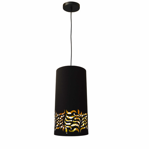 Dainolite Lighting  GLO-1P-698 1 Light Glora Pendant JTone Black Gold  Black
