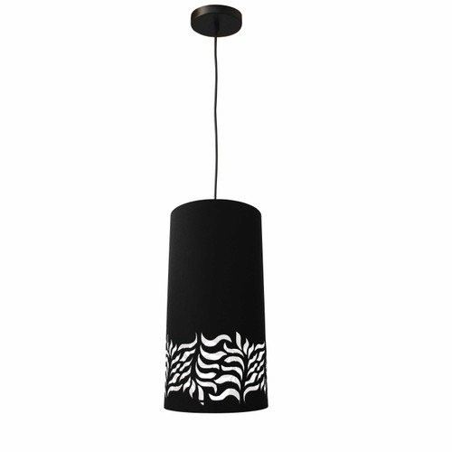 Dainolite Lighting  GLO-1P-797 1 Light Glora Pendant JTone Black Black