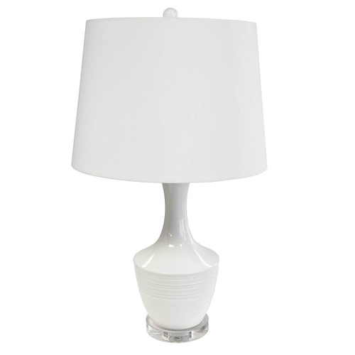 Dainolite Lighting  GOL-271T-WH 1 Light Ceramic Oversized Table Lamp, White Finish