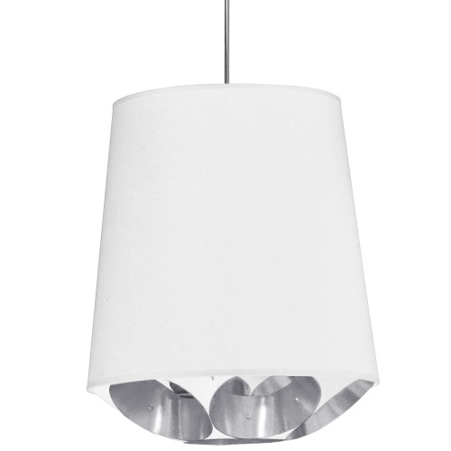 Dainolite Lighting  HAD-M-691 1 Light Hadleigh Pendant White on Silver Medium Polished Chrome