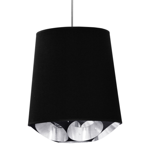 Dainolite Lighting  HAD-M-697 1 Light Hadleigh Pendant Black on Silver Medium Polished Chrome