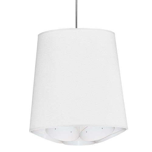Dainolite Lighting  HAD-M-790 1 Light Hadleigh Pendant JTone White Medium Polished Chrome