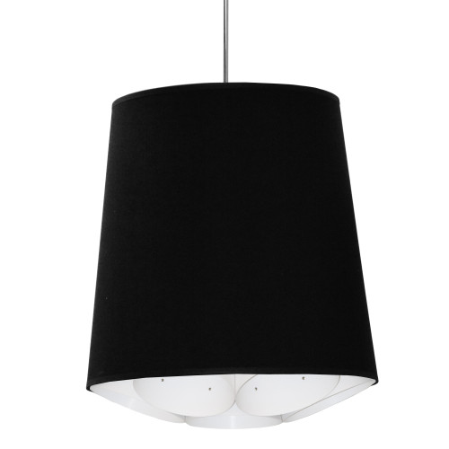 Dainolite Lighting  HAD-M-797 1 Light Hadleigh Pendant JTone Black Medium Polished Chrome