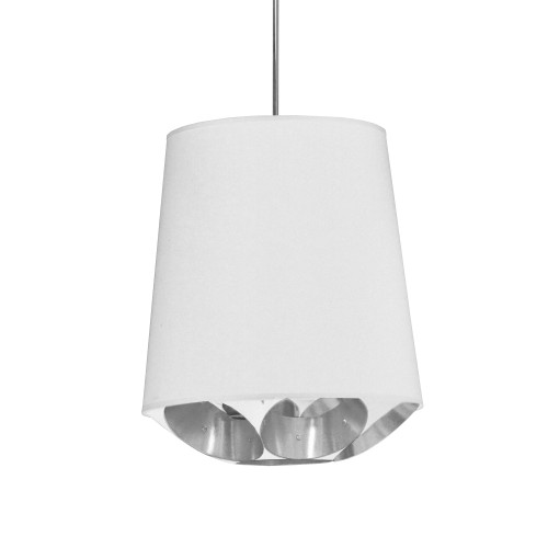 Dainolite Lighting  HAD-S-691 1 Light Hadleigh Pendant White on Silver Small Polished Chrome
