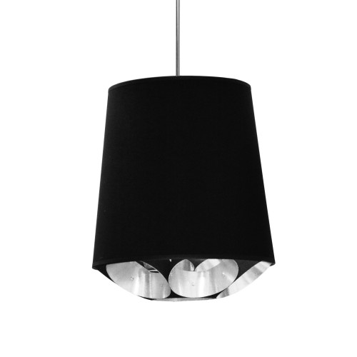 Dainolite Lighting  HAD-S-697 1 Light Hadleigh Pendant Black on Silver Small Polished Chrome