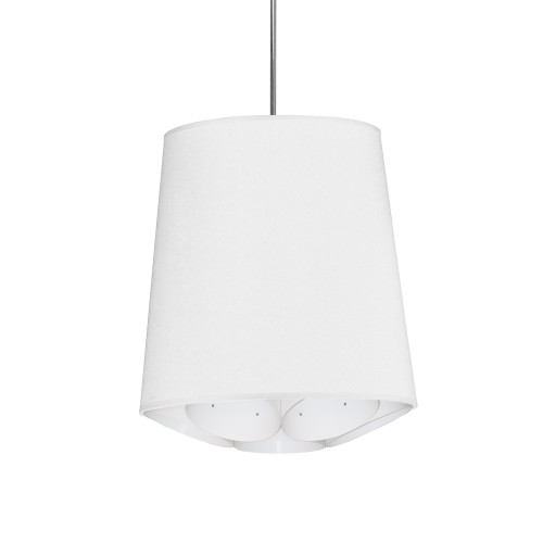 Dainolite Lighting  HAD-S-790 1 Light Hadleigh Pendant JTone White Small Polished Chrome