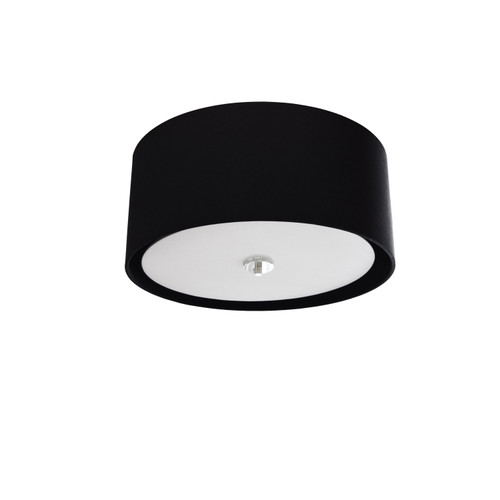 Dainolite Lighting  HEL-163FH-PC-BW 3 Light Helena Flush Mount Polished Chrome Black with White  Diffuser