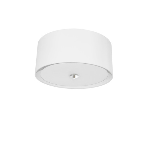 Dainolite Lighting  HEL-163FH-PC-WH 3 Light Helena Flush Mount Polished Chrome White with White  Diffuser