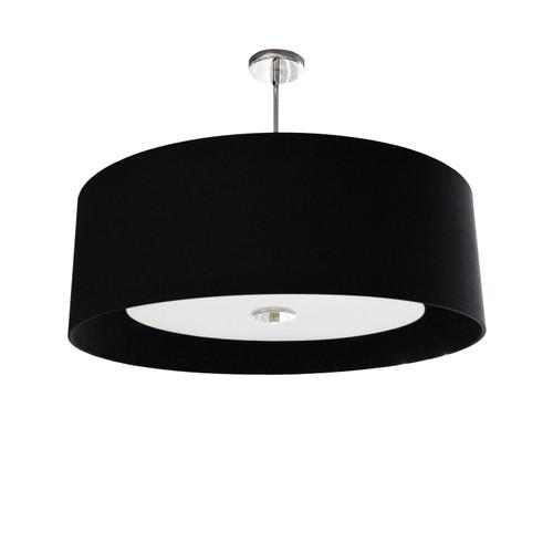 Dainolite Lighting  HEL-224P-PC-BW 4 Light Helena Pendant Polished Chrome Black with White Diffuser