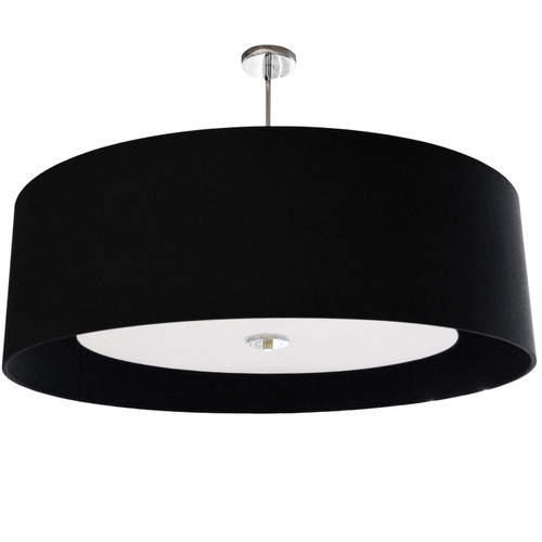 Dainolite Lighting  HEL-304P-PC-BW 4 Light Helena Pendant Polished Chrome Black with White Diffuser