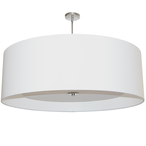 Dainolite Lighting  HEL-304P-PC-WH 4 Light Helena Pendant Polished Chrome White with White Diffuser