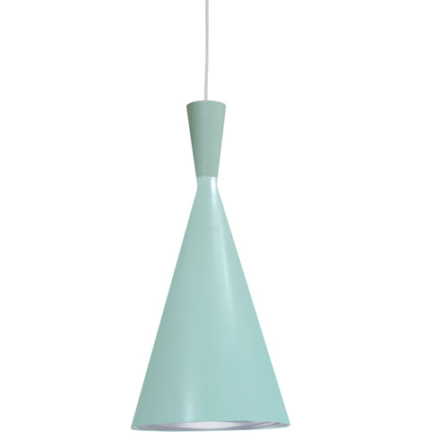 Dainolite Lighting  HKI-81P-MT-SV 1 Light Incandescent Pendant Mint Finish with Silver Pebbled Interior