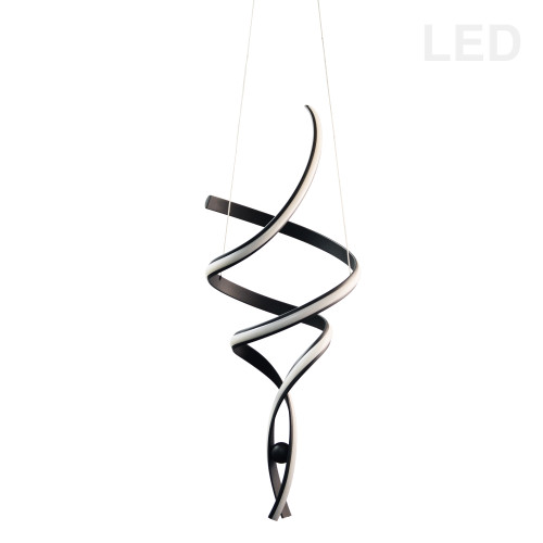 Dainolite Lighting  IRN-3935LEDP-MB 35W LED Pendant, Matte Black with White Silicone Diffuser