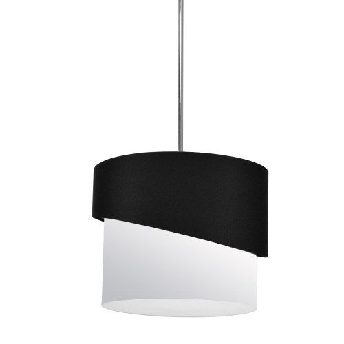 Dainolite Lighting  JAZ141-PC-797-790 1 Light Jazlynn Pendant, Black on White Shade w/ 790 Diff