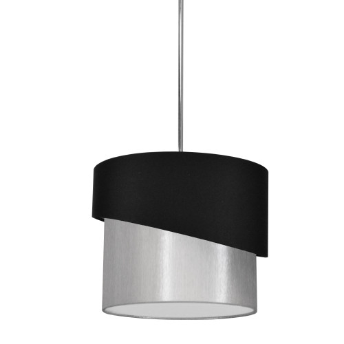 Dainolite Lighting  JAZ141-PC-797-835 1 Light Jazlynn Pendant, Black on Grey Shade w/ 790 Diff