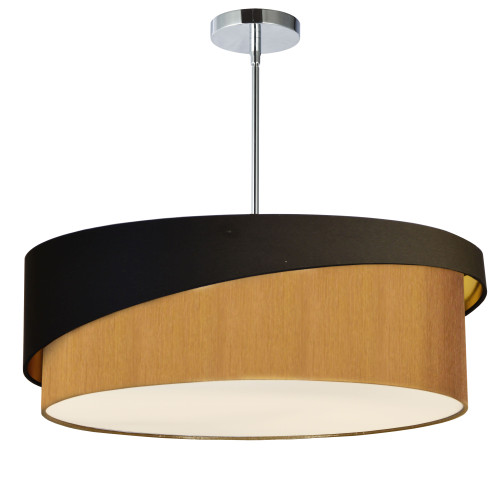 Dainolite Lighting  JAZ243-PC-698-842 3 Light Jazlynn Pendant, Black on Gold Shade w/ 790 Diff