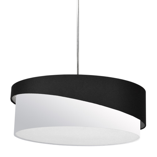 Dainolite Lighting  JAZ243-PC-797-790 3 Light Jazlynn Pendant, Black on White Shade w/ 790 Diff