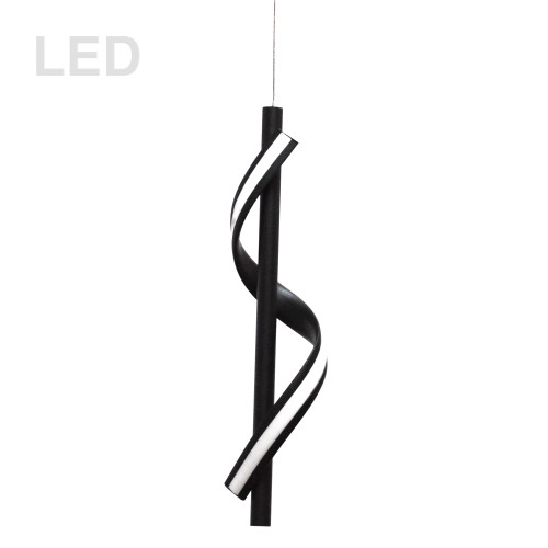 Dainolite Lighting  JTN-178LEDP-MB 8W LED Pendant, Matte Black with White Silicone Diffuser