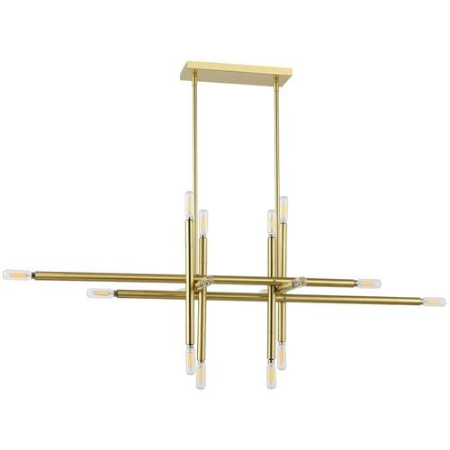 Dainolite Lighting  KAN-4016HP-AGB 16 Light Incandescent Horizontal Pendant, Aged Brass