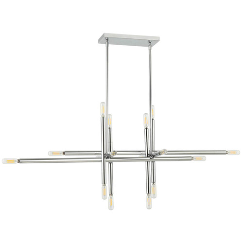 Dainolite Lighting  KAN-4016HP-PC 16 Light Incandescent Horizontal Pendant, Polished Chrome