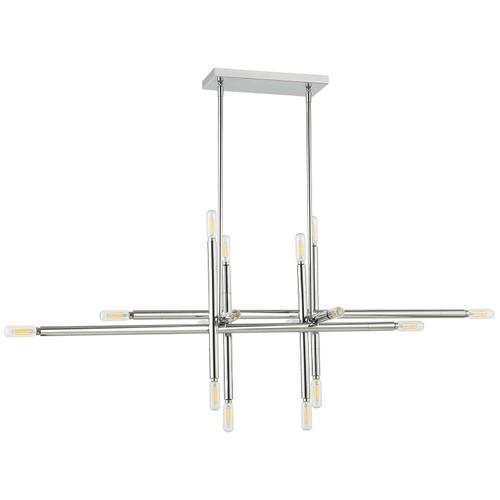 Dainolite Lighting  KAN-4016HP-PC 16 Light Incandescent Horizontal Pendant, Polished Chrome