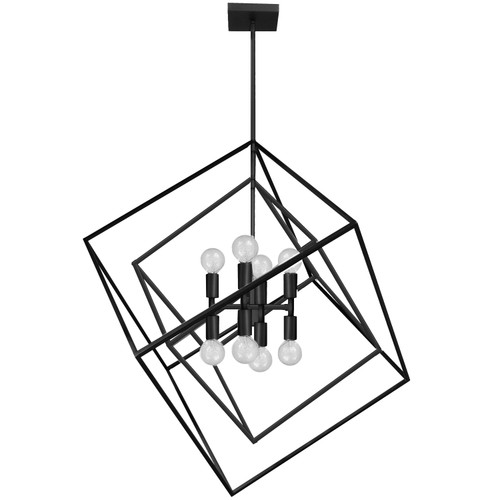Dainolite Lighting  KAP-278P-MB 8 Light Incandescent Pendant Matte Black Finish