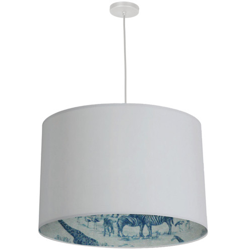 Dainolite Lighting  KAT-241P-WH-AYTEL 3 Light Drum Pendant, White w/ White  Aytel Shade