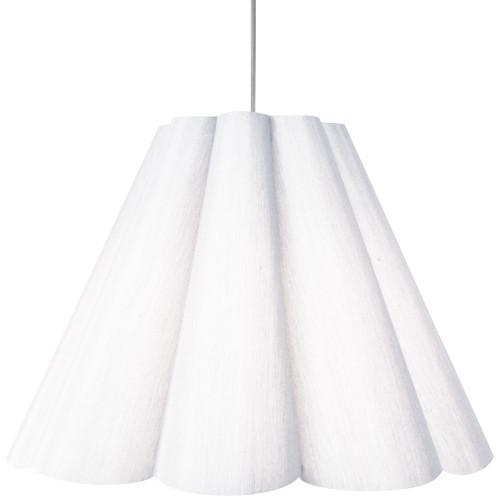 Dainolite Lighting  KEN-L-2400 4 Light Kendra Pendant Milano White, Large Polished Chrome