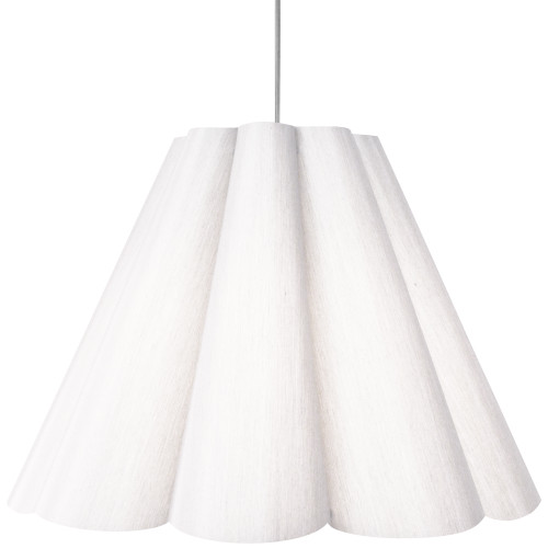 Dainolite Lighting  KEN-L-790 4 Light Kendra Pendant JTone White, Large Polished Chrome
