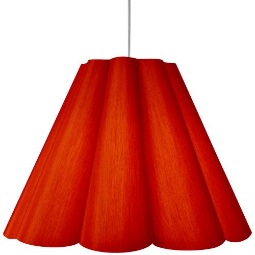Dainolite Lighting  KEN-L-795 4 Light Kendra Pendant JTone Red, Large Polished Chrome
