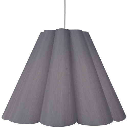 Dainolite Lighting  KEN-L-835 4 Light Kendra Pendant SGlow Grey, Large Polished Chrome