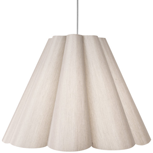 Dainolite Lighting  KEN-L-838 4 Light Kendra Pendant SGlow Latte , Large Polished Chrome