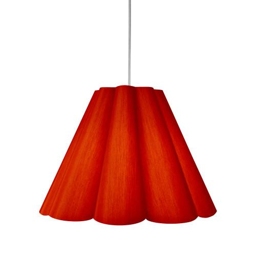 Dainolite Lighting  KEN-M-795 4 Light Kendra Pendant JTone Red, Medium Polished Chrome