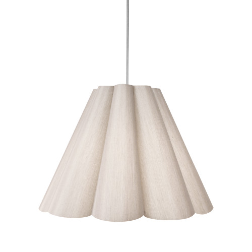Dainolite Lighting  KEN-M-838 4 Light Kendra Pendant SGlow Latte , Medium Polished Chrome
