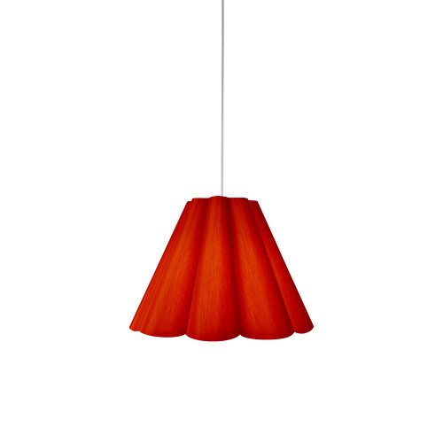 Dainolite Lighting  KEN-S-795 4 Light Kendra Pendant JTone Red, Small Polished Chrome