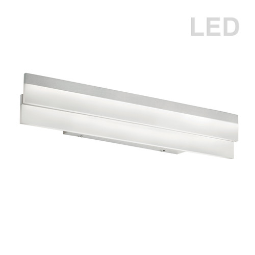 Dainolite Lighting  KEP-26FW-SV Flat LED Vanity Fixture, Silver/Polished Chrome, Frosted White Diffuser