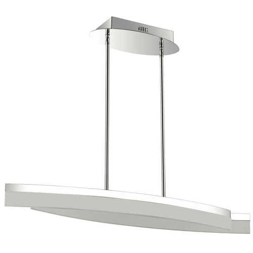 Dainolite Lighting  KEP-36HP-PC 30 Watt LED Horizontal Pendant, Polished Chrome Finish