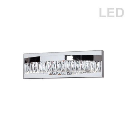 Dainolite Lighting  KIM-14W-PC 10W LED Vanity, Polished Chrome Finish with Crystals hanging