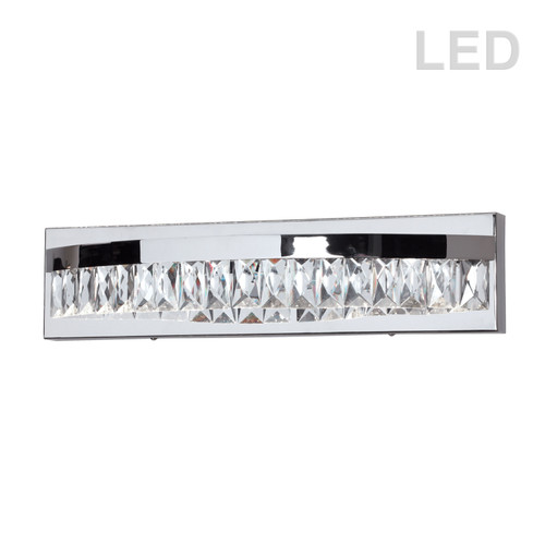 Dainolite Lighting  KIM-21W-PC 12W LED Vanity, Polished Chrome Finish with Crystals hanging