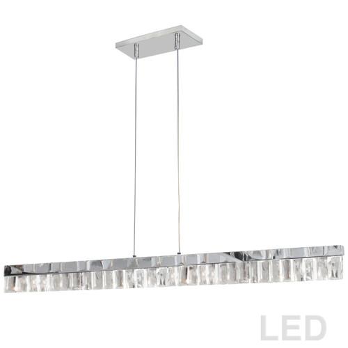 Dainolite Lighting  KIM-35HP-PC LED Horizontal Crystal Pendant, Polished Chrome Finish