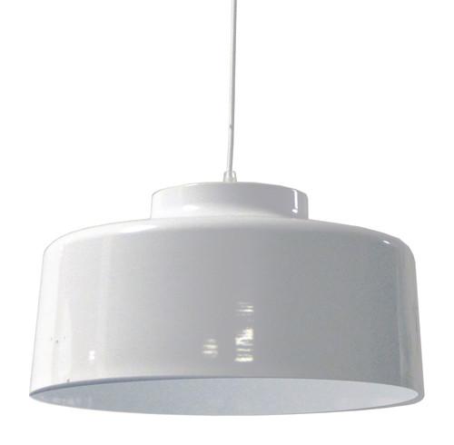 Dainolite Lighting  KUP-201P-WH 1 Light Metal Pendant, White Finish