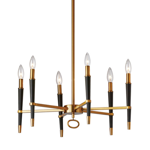 Dainolite Lighting  LAN-246C-VB 6 Light  Incandescent Chandelier, Vintage Bronze Finish