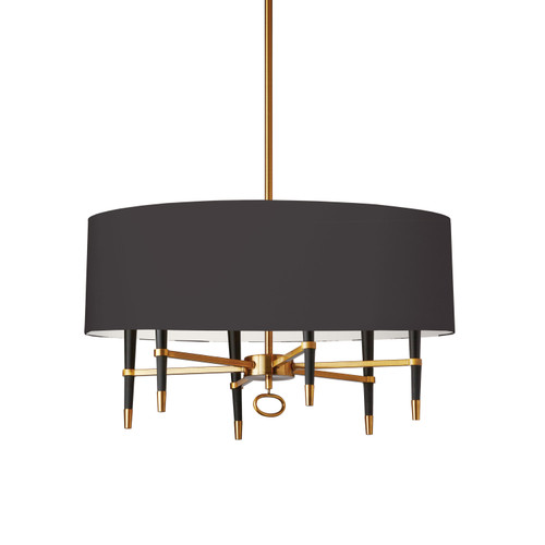 Dainolite Lighting  LAN-246C-VB-BK 6 Light  Incandescent Chandelier, Vintage Bronze, Black Shade