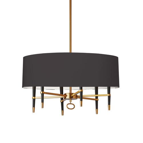 Dainolite Lighting  LAN-246C-VB-BK 6 Light  Incandescent Chandelier, Vintage Bronze, Black Shade