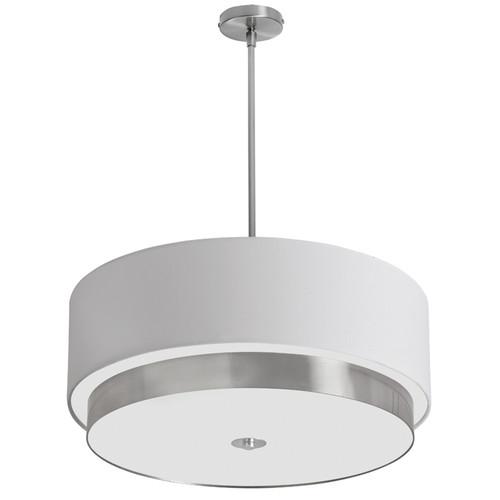 Dainolite Lighting  LAR-204LP-SC 4 Light Large Pendant, White Linen Drum Shade